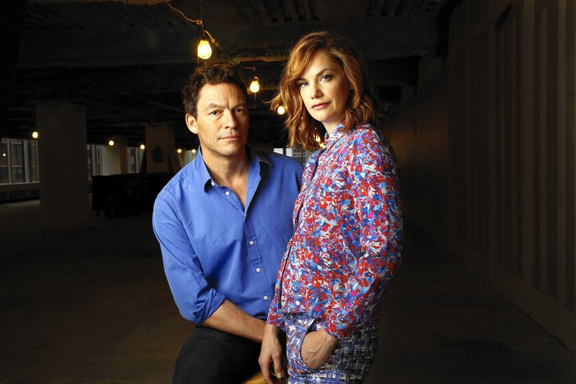 "Dominic West and Ruth Wilson from Showtime's ""The Affair"""