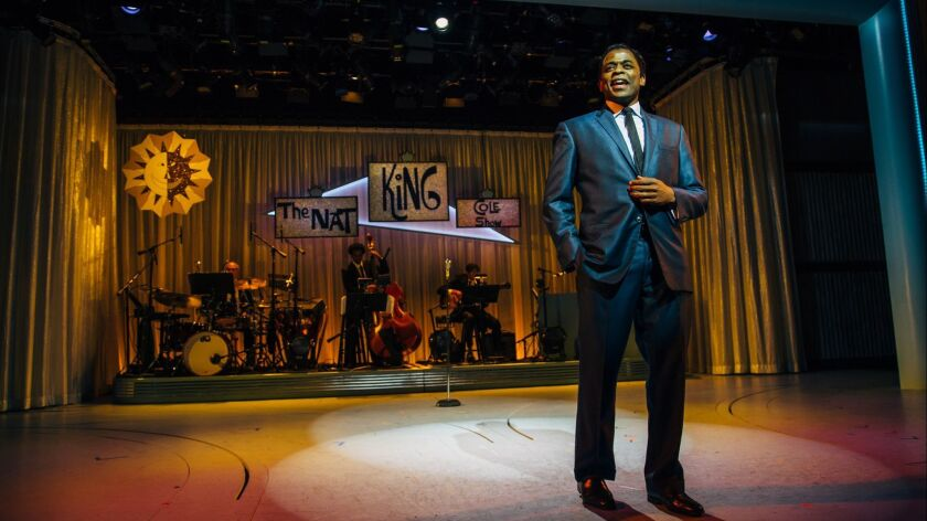 Review: For Nat King Cole in 'Lights Out,' smiles on camera but ugly truths behind the scenes