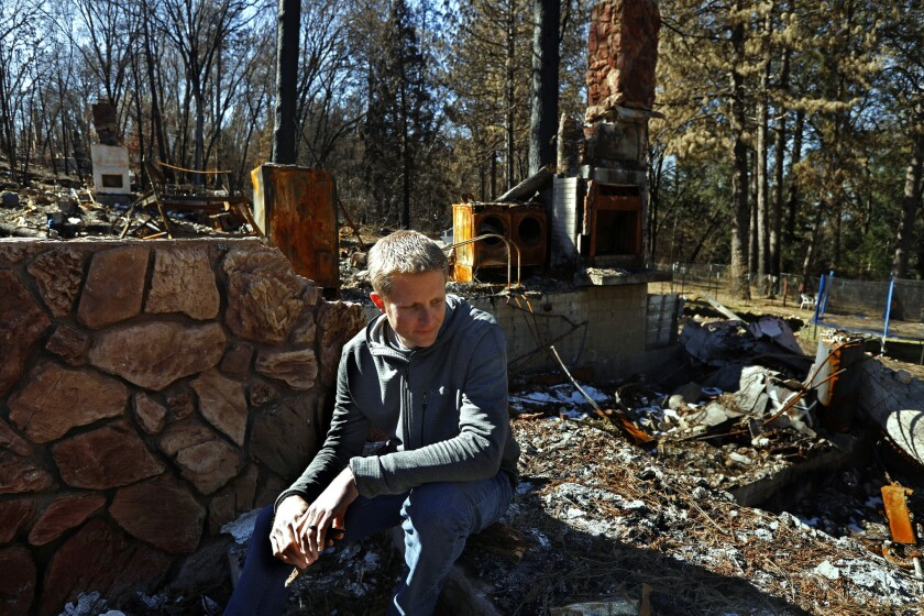 PARADISE, CALIFORNIA--FEB. 25, 2019--Charles Brooks lost his home in the Camp Fire in November 2018.