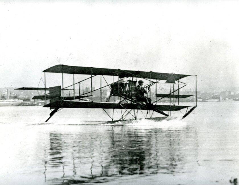 Curtiss, February 1911. Standard Aeroplane. U.S. NAVY PHOTO