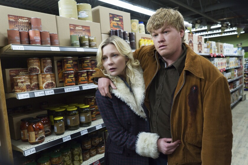 """Kirsten Dunst and Jesse Plemons appear in a scene from """"Fargo,"""" which aired its season finale Monday night."""