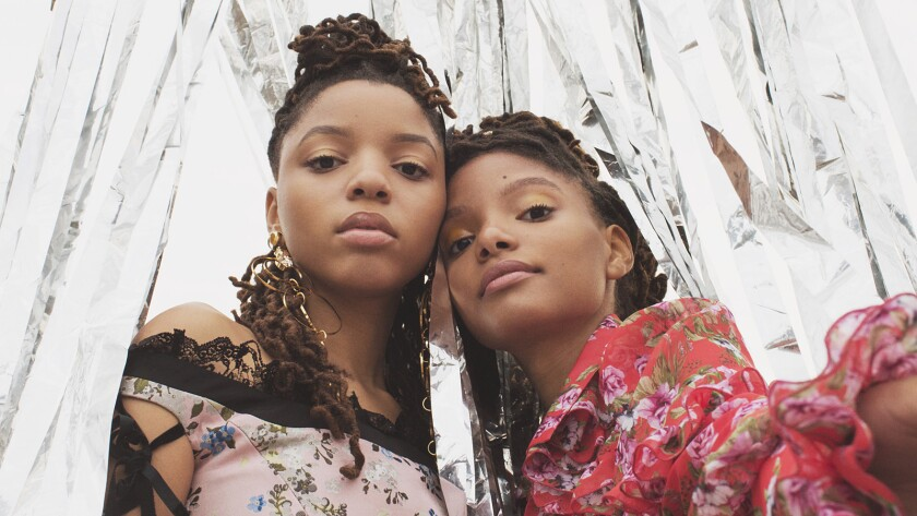 Chloe, left, and Halle Bailey are sisters in the R&B duo Chloe x Halle.