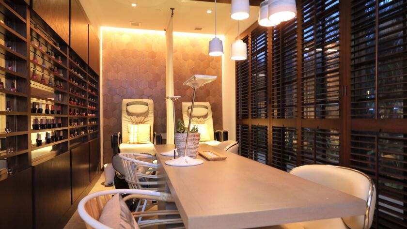 The small nail salon at Driftwood Spa at the Four Seasons Residence Club Aviara in Carlsbad.