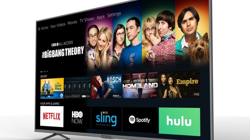 This photo provided by Westinghouse Electronics shows a blend of streaming TV services and over-the-