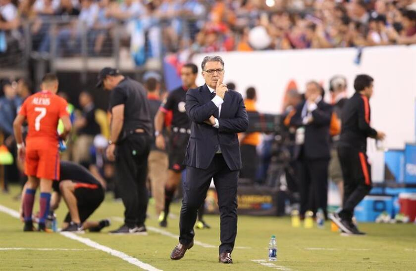Gerardo Martino Argentine coach at a match between Argentina and Chile June 26, 2016 at the MetLife stadium East Rutherford, Nueva Jersey US. EPA- EFE FILE/David Fernández