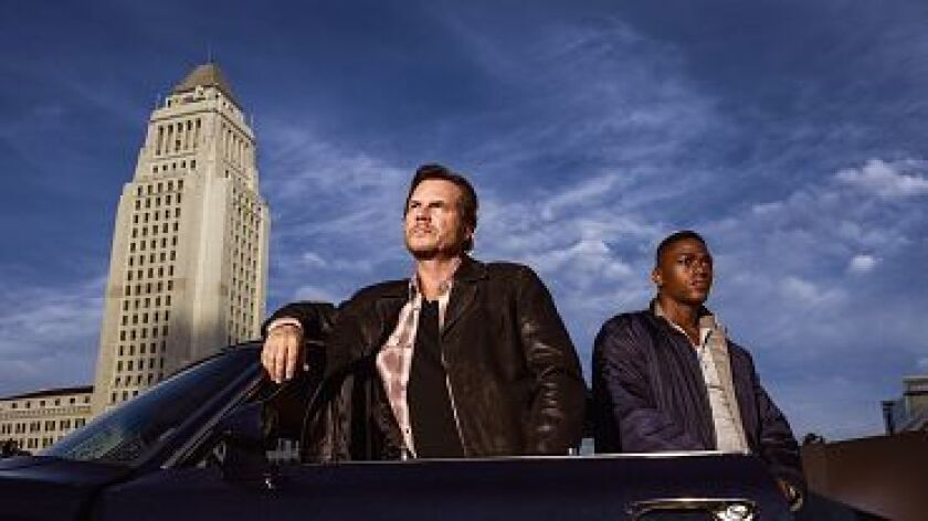 """Bill Paxton and Justin Cornwell star in the new CBS series, """"Training Day."""""""