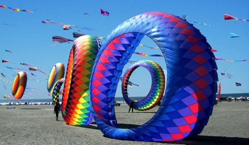 The 71st annual Ocean Beach Kite Festival features kites of all shapes, sizes, colors and themes. It takes place Saturday at the Robb Athletic Field in San Diego.