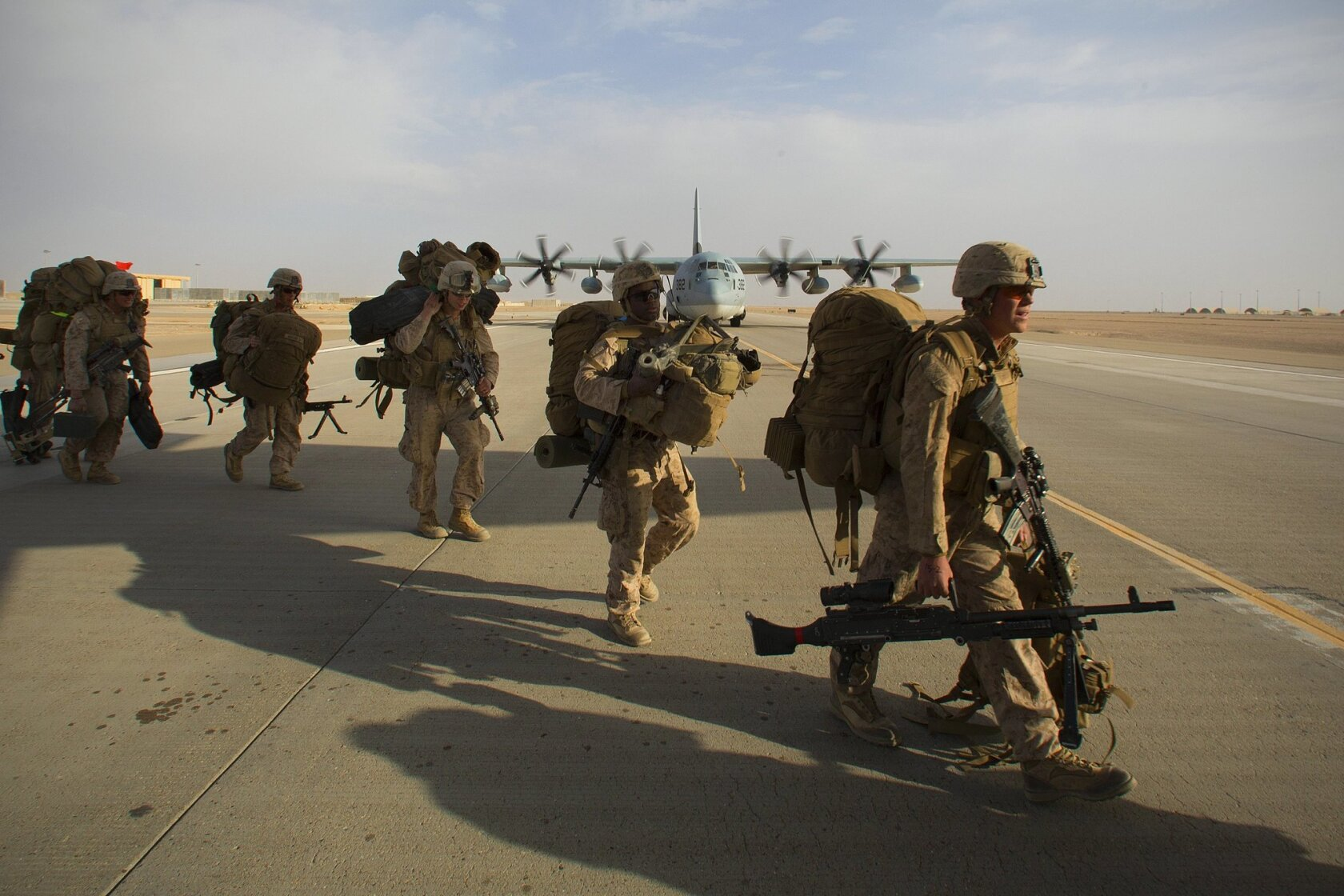 Final U S  Marines leave Camp Leatherneck/Bastion in Helmand