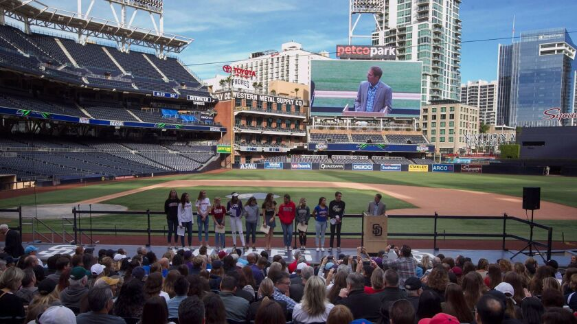 High school students announced their college commitments and sign letters of intent Wednesday at Petco Park.