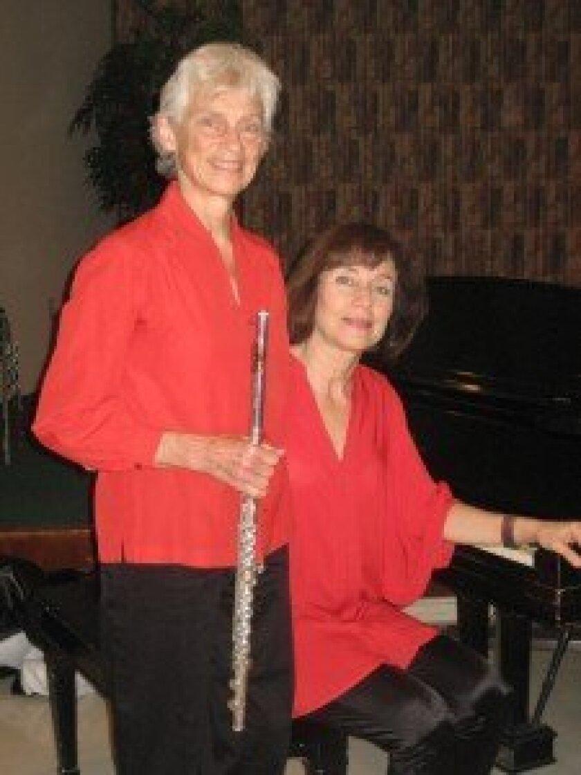 Flutist Diane Wilson and pianist Vania Pimentel.
