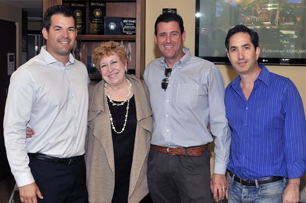 Michael Campos, BHHS RSF Branch Manager Diana Rubottom, Garrett Mathews, Evan Himfar