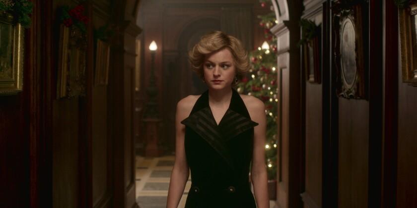 "Emma Corrin as Princess Diana in ""The Crown."""