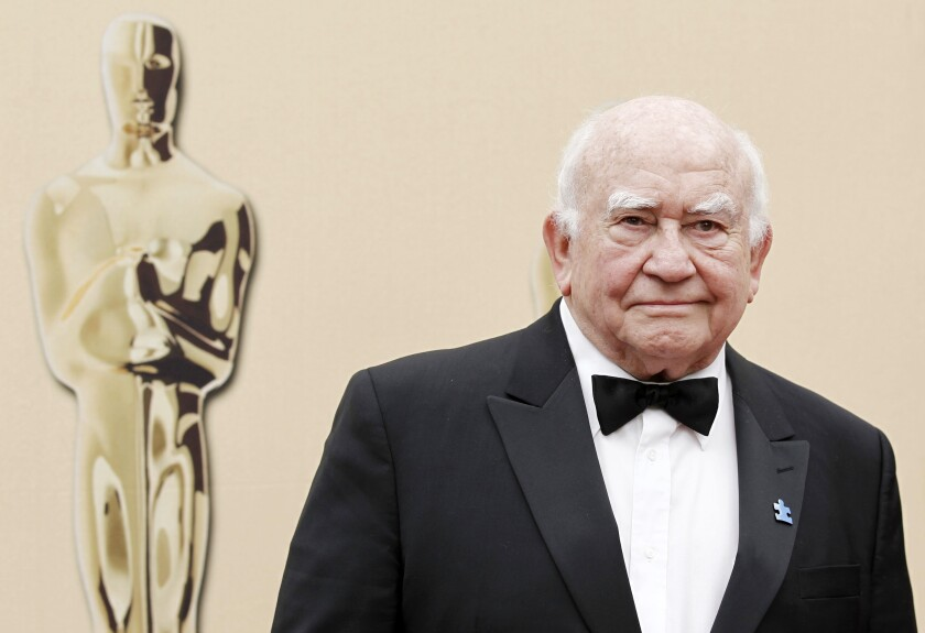 Actor Ed Asner arrives during the 82nd Academy Awards in the Hollywood section of Los Angeles in March 2010.