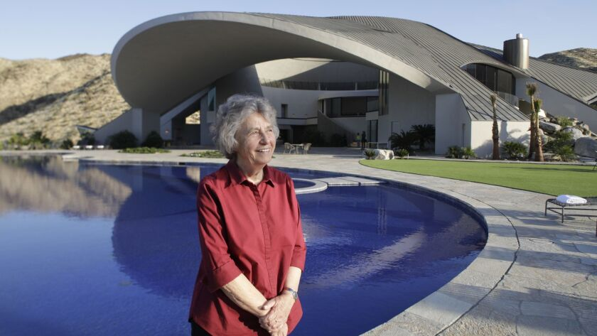 PALM SPRINGS, CA -- APRIL 30, 2019: Architect Helena Arahuete, who worked with the original architec