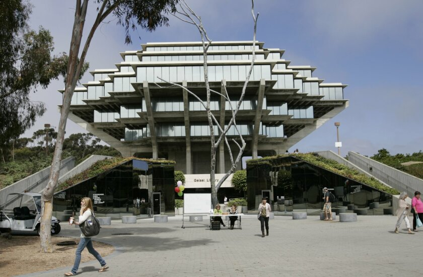 The iconic Geisel Library, designed by architect William Pereira, after completion in 1970.