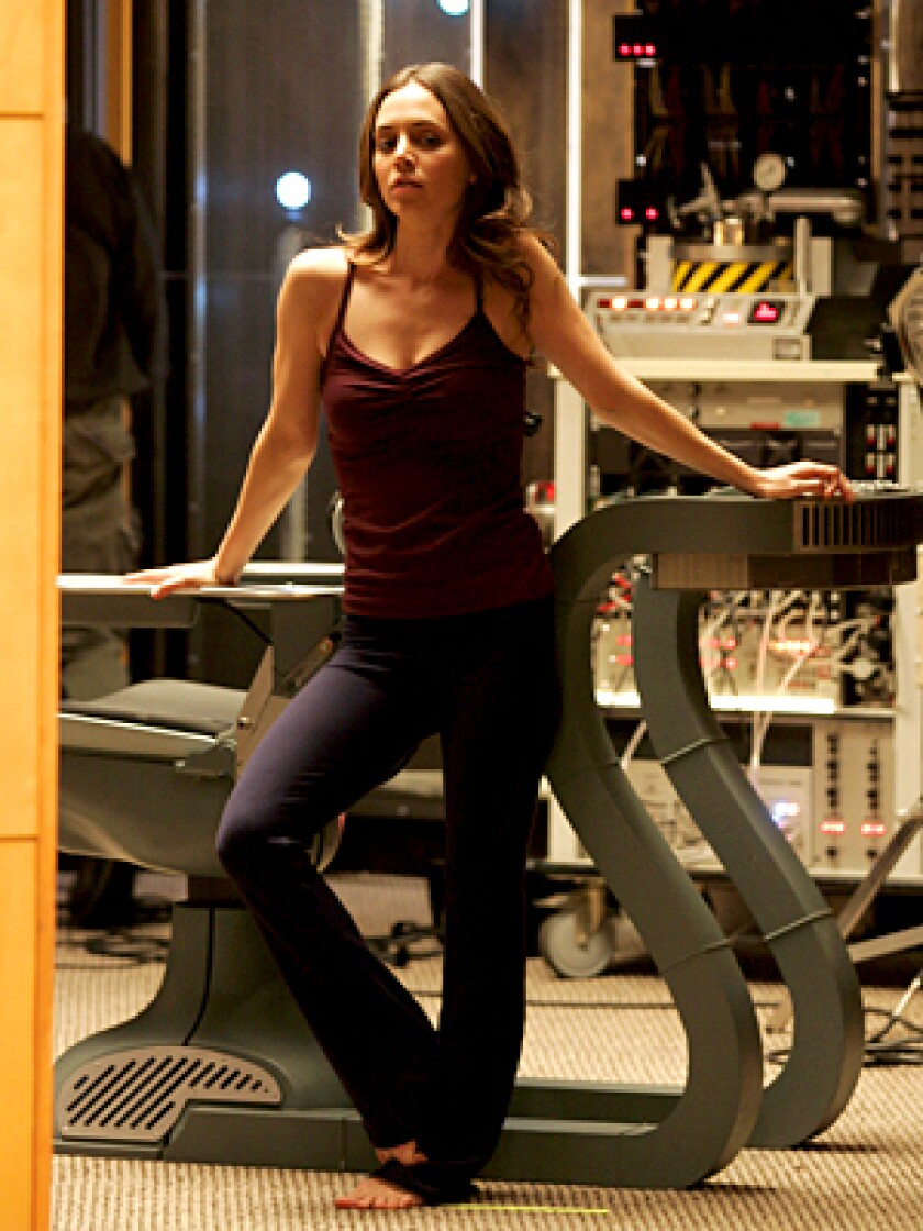 THE DOLL: Eliza Dushku on the elaborate, 25,000-square-foot Fox set that cost $950,000.