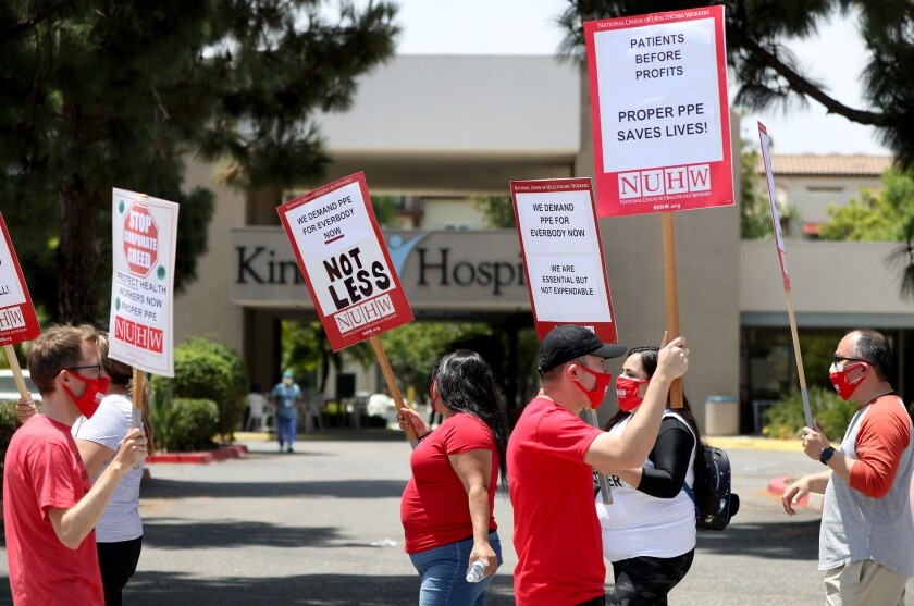 Kindred Hospital employees protest