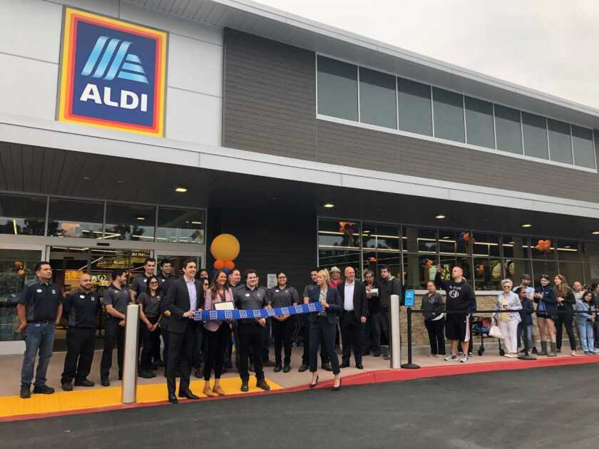 Discount grocery Aldi opened its eighth store in San Diego County last month in Encinitas.