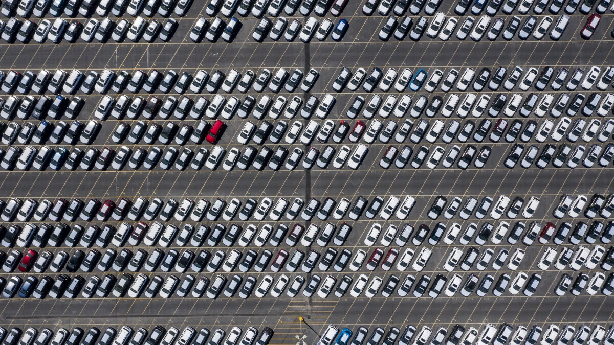 Long Beach, CA, SUNDAY, MAY 3, 2020, - Thousands of new cars are stored at Toyota logistics service yard at the port. (Robert Gauthier / Los Angeles Times)
