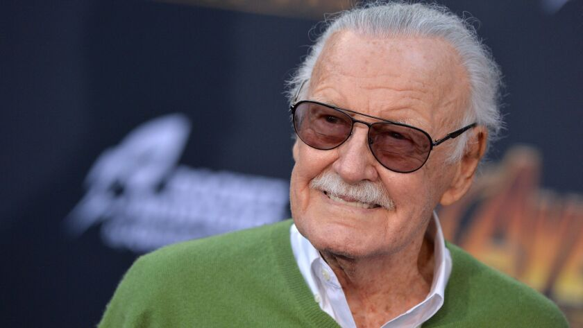 """Stan Lee attends the premiere of """"Avengers: Infinity War"""" in Los Angeles."""