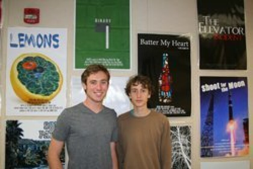 CCA Envision Cinema students Hunter Peterson and Josh Masters will have films screened at the LA Film Festival this year, as well as this weekend's film festival at CCA.