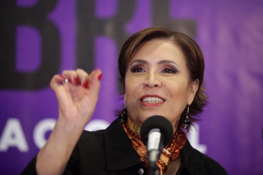 Fotografía de archivo de la exministra mexicana de Desarrollo Social, Rosario Robles. EFE/Sáshenka Gutiérrez/Archivo
