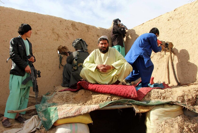 Afghan security forces in operation against Taliban militants in the Sangin district of restive Helmand province.