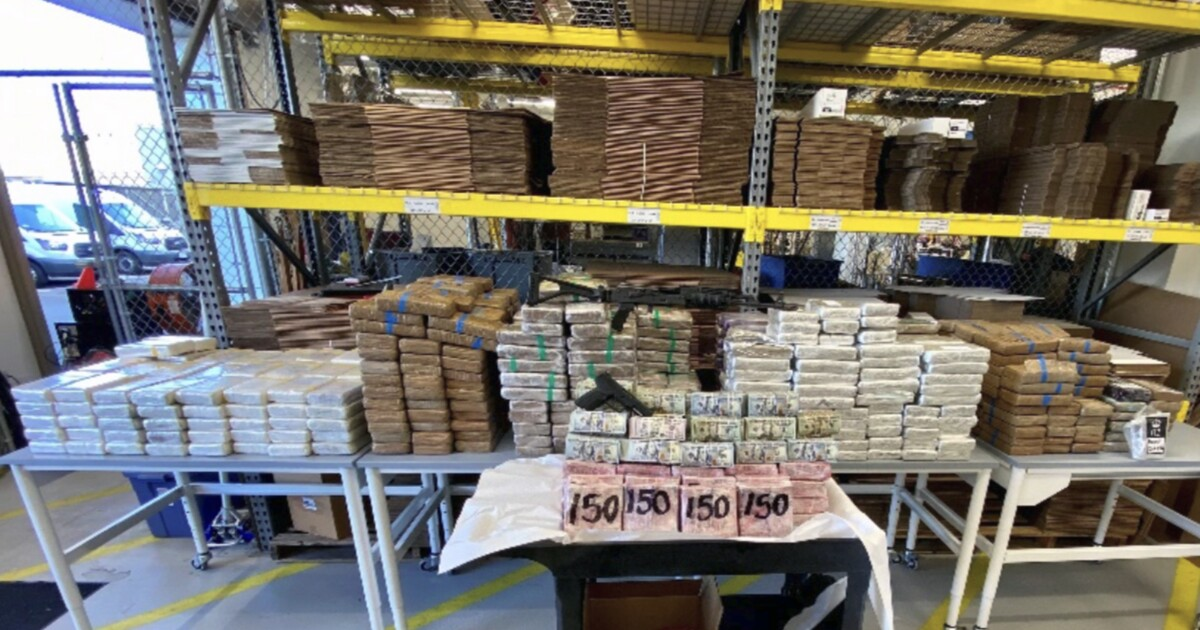 Massive stash of cartel cash, drugs and ammo seized from Otay Mesa truck yard