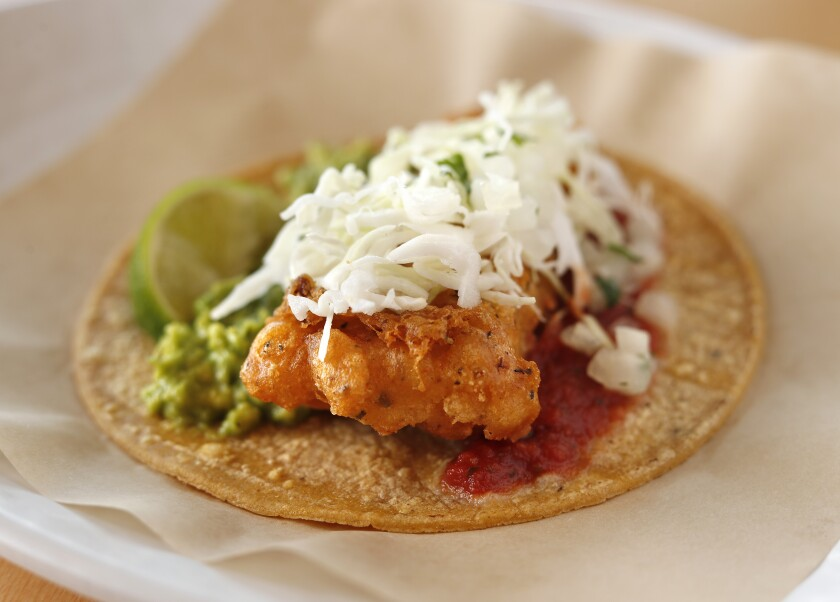 The Fish Taco Especial is the classic recipe from The Original Fish Taco with handmade guacamole and cheese