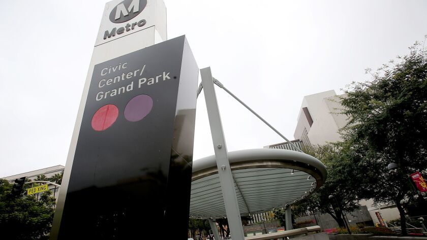 Under a controversial policy that has been rescinded, companies could buy naming rights to Metro's rail lines and stations, including the subway station at Civic Center/Grand Park.