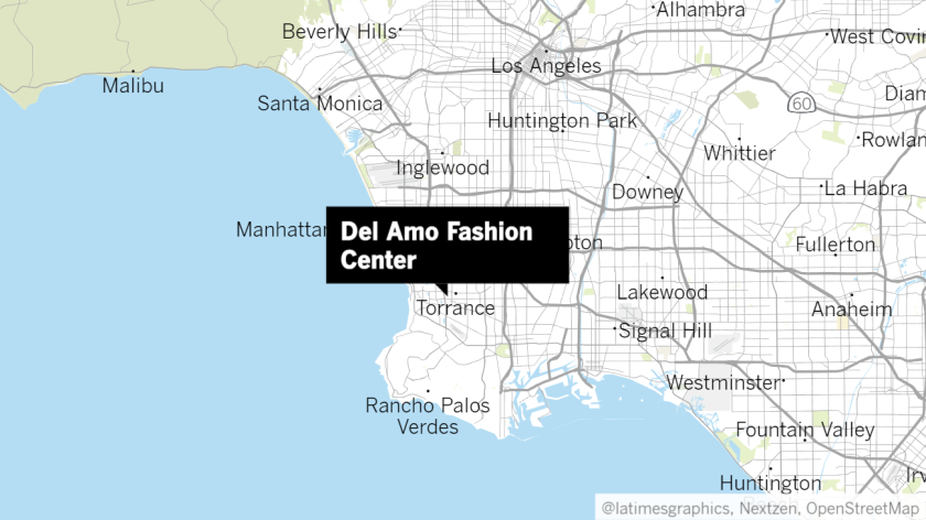 Police swarm Del Amo mall in Torrance after gunman opens