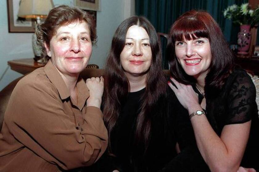 """Jackie, left, Lynn and Sue at 42 from the movie """"56 Up."""""""