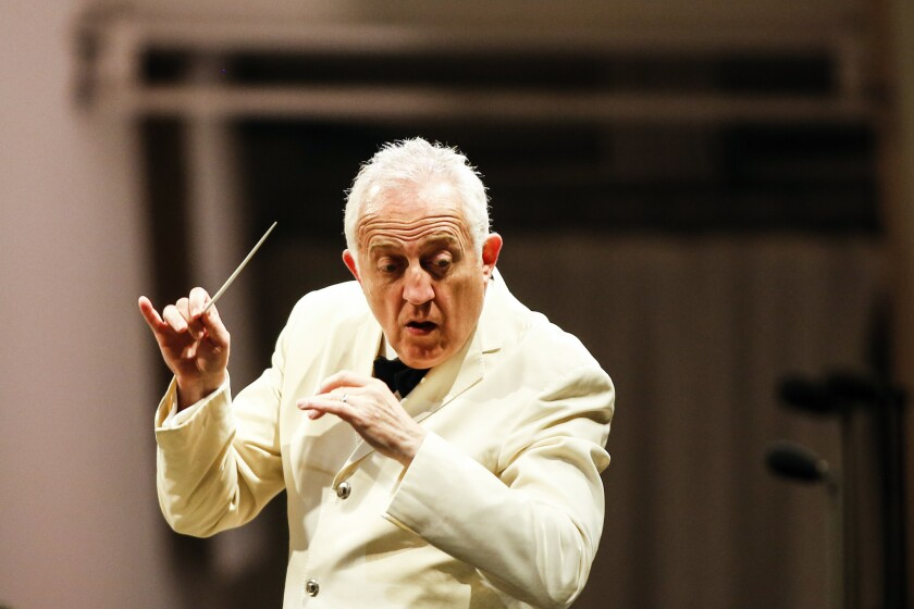 "LOS ANGELES, CA -- TUESDAY, AUGUST 28, 2018-- Bramwell Tovey conducts the ""Carmina Burana"" performa"