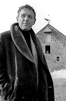 Artist Andrew Wyeth is seen on his property in Chadds Ford, Pa. , in a February 1964 photo.