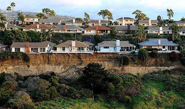 The landslide left San Clemente homes on the brink of a cliff. See full story