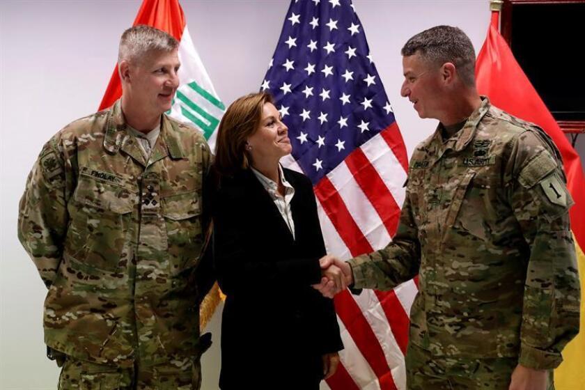 """El comandante del componente de Tierra de la misión de Estados Unidos contra el Estado Islámico (EI), el general de división Joseph Martin (D), aseguró hoy que la batalla contra los yihadistas en el este de Mosul ha sido una de las """"más duras que el mundo ha visto en la historia reciente"""". EFE/ARCHIVO"""