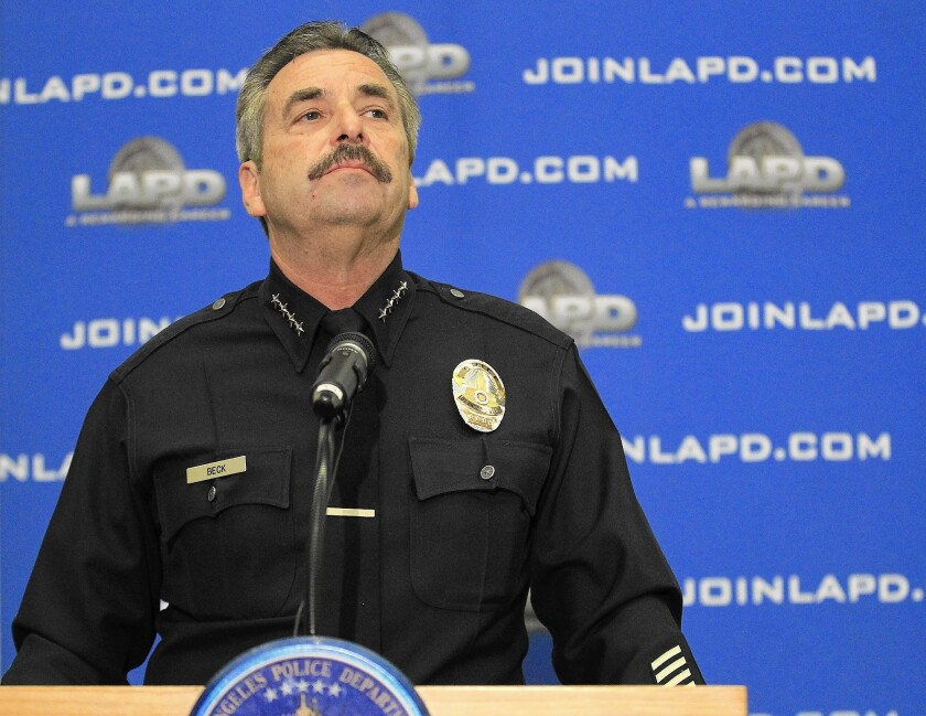 Police Chief Charlie Beck launched the review after the February 2013 shootings by former Officer Christopher Dorner, who criticized the LAPD's discipline process.