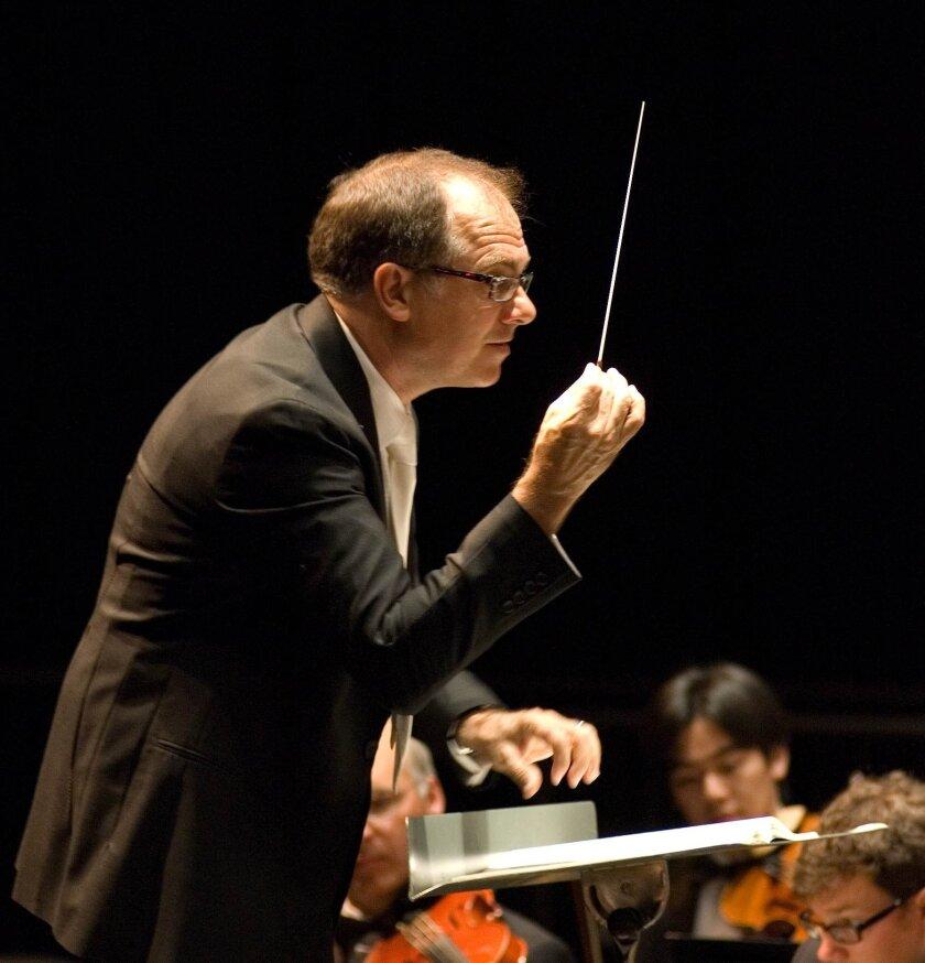 Steve Schick conducting the La Jolla Symphony & Chorus.