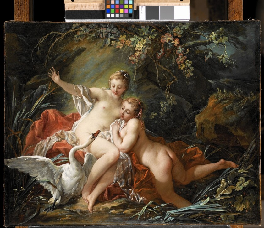 "Lynda and Stewart Resnick announced the donation of works including Francois' Boucher's 1742 oil on canvas ""Leda and the Swan"" to LACMA."