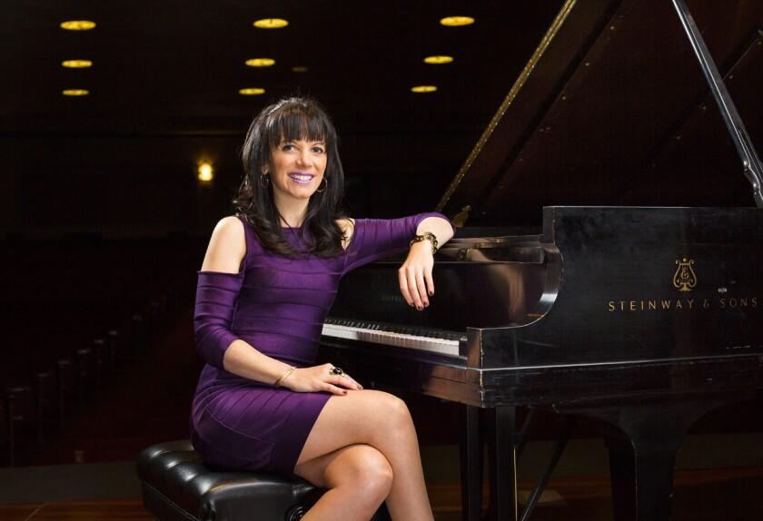 Juila Vari is an international jazz Singer and pianist. (K.C. Alfred/Union-Tribune