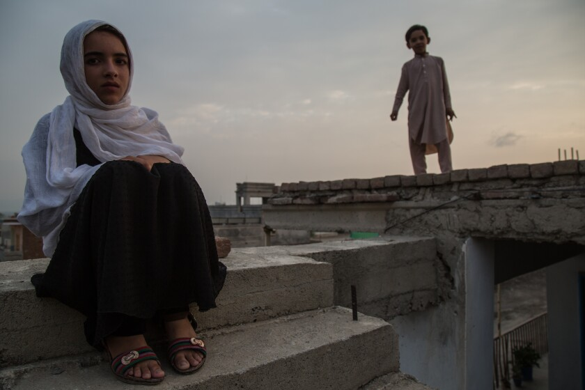 Hadia Mustaghn, 8, witnessed a house raid that left three of her uncles dead. The family has since moved to Khost city, the provincial capital, but Hadia says she's constantly afraid.