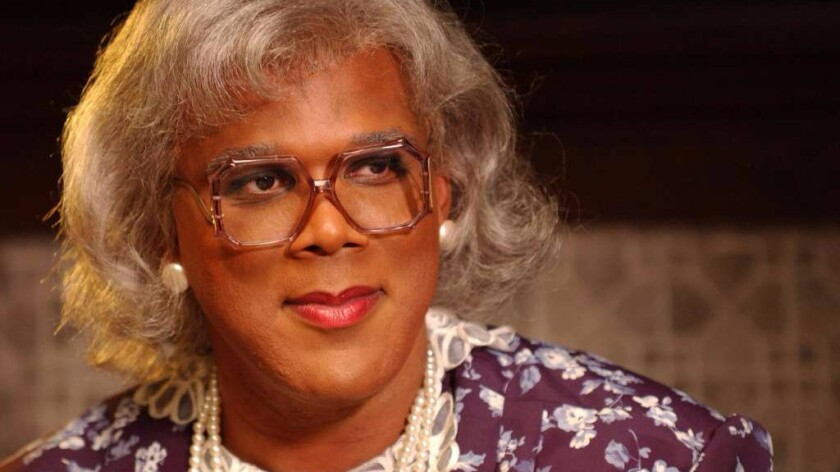 "Madea (Tyler Perry) in the movie ""Diary of a Mad Black Woman."""