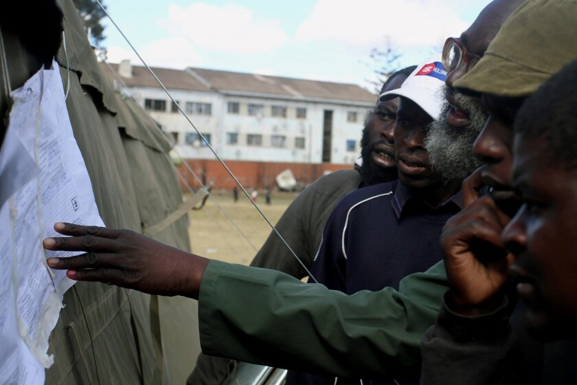 Crisis looms in Zimbabwe over election results