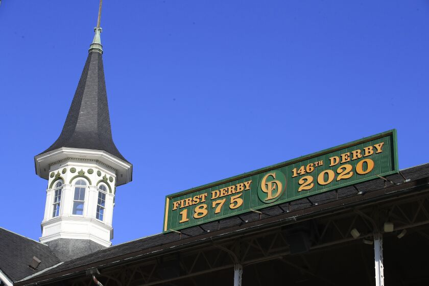 The 146th running of the Kentucky Derby is scheduled to be held in September because of the COVID-19 pandemic.