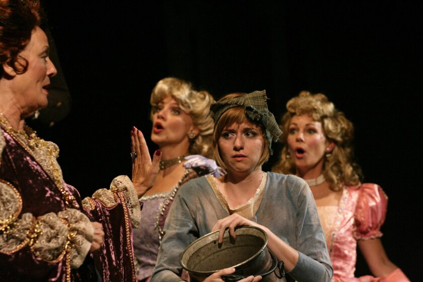 "Kathryn Herbruck, Sunny Smith, Sarah Errington and Susanna Kurner in ""Into the Woods."""