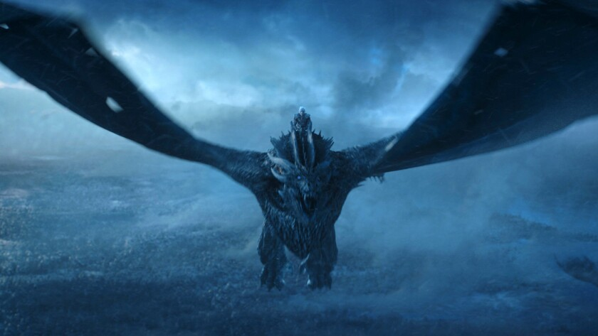 """""""Game of Thrones"""": The Night King (Vladimir Furdik) and his new zombie ice dragon, looking to freeze out the competition."""