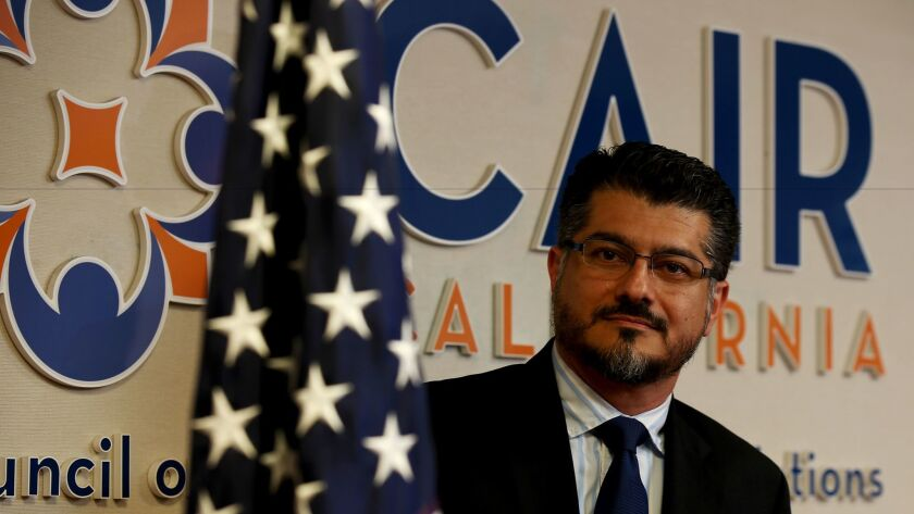 Hussam Ayloush, shown in May, is the Los Angeles director of the Council on American-Islamic Relations, the country's largest Muslim civil liberties organization.