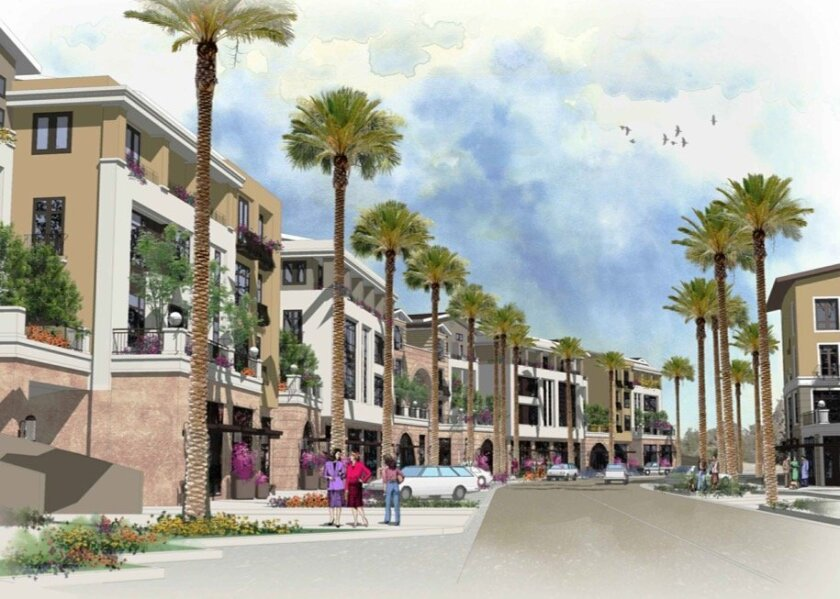 A rendering of Corallina, a new mixed-use development in Pacific Highlands Ranch. Courtesy photo