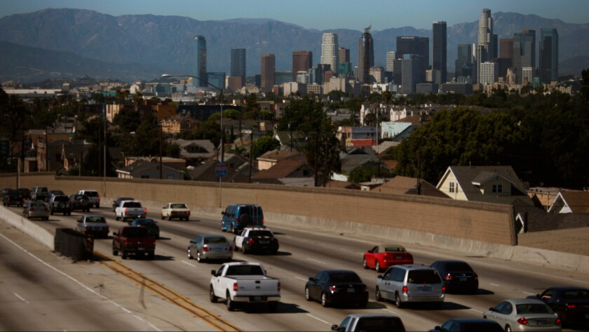 The South Coast Air Quality Management District is considering an increase on vehicle registration fees as one component of a funding plan for smog reduction efforts over the next 15 years.
