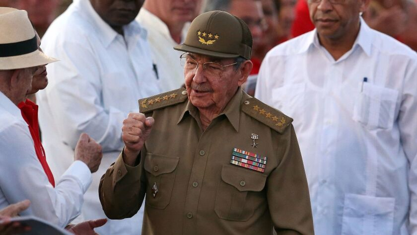 """Cuban President Raul Castro, in Havana in July, told a U.S. diplomat that he was concerned about """"sonic attacks"""" on the U.S. embassy in Cuba."""